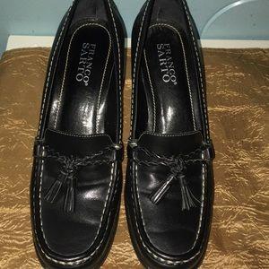 Franco Sarto Black Leather Heel Shoes